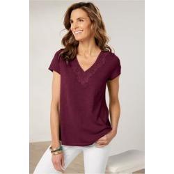 Women Felicity T-Shirt by Soft Surroundings, in Purple Potion size 1X (18-20)
