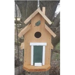 Bird Houses by Mark Cedar Cottage Bird House, Green found on Bargain Bro India from Chewy.com for $24.95