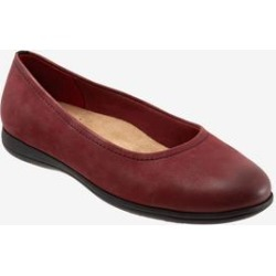 Women's Darcey Flat by Trotters in Dark Red (Size 10 M) found on Bargain Bro India from Woman Within for $99.99
