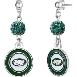 New York Jets Women's Shambala Post Earrings found on Bargain Bro from Fanatics for USD $9.11