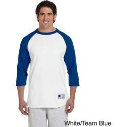 Champion Men's Tagless Raglan Baseball T-shirt (M,WHITE/TEAM BLUE) found on Bargain Bro Philippines from Overstock for $12.50