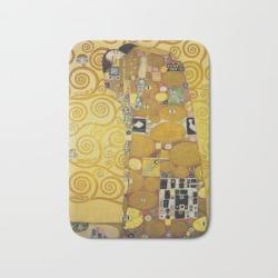 Bath Mat | The Embrace - Gustav Klimt by Fineartpaintings - 17