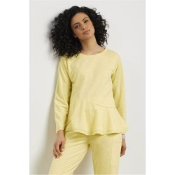 Women's Lanai Pullover Top by Soft Surroundings, in Lemon Grass size XS (2-4)