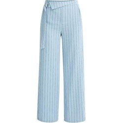 Striped Wide Leg Trousers In Blue & Black - Blue - Paisie Pants found on MODAPINS from lyst.com for USD $163.00