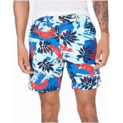 Tommy Hilfiger Men's Marcus Regular-Fit Leaf-Print Shorts, Multi, 38 (Blue - 38)(cotton) found on Bargain Bro from Overstock for USD $22.79
