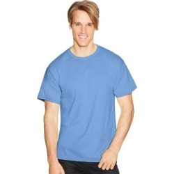Hanes ComfortBlend EcoSmart Crewneck Men's T-Shirt (Heather Blue - L), Grey Blue found on Bargain Bro India from Overstock for $14.78