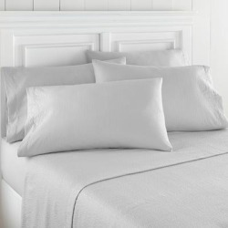 Seersucker Sheet Sets by Shavel Home Products in Fog Gray (Size TWIN)
