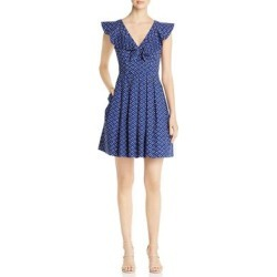 Kate Spade Womens Scuba Dress Polka Dot Ruffled - Amulet Blue found on MODAPINS from Overstock for USD $78.69
