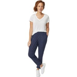 Plus Size Women's Woven Soft Pants by ellos in Navy/white Dot (Size 1X) found on Bargain Bro Philippines from Ellos for $27.90