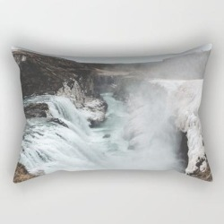 Rectangular Pillow | Gullfoss - Landscape Photography by Michael Schauer - Small (17