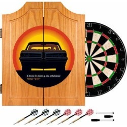 Trademark Global Pontiac GTO Time & Distance Dart Cabinet Set in Black/Brown/Gray, Size 24.75 H x 20.5 W x 3.5 D in   Wayfair GM7000-GTO-V2 found on Bargain Bro Philippines from Wayfair for $129.95