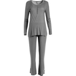 Lamaze Maternity Intimates Women's Sleep Bottoms OBSIDIAN - Heather Obsidian Button-Front Maternity/Nursing Pajama Set found on Bargain Bro India from zulily.com for $21.99