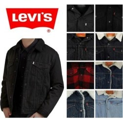 Levi's Men's Sherpa Lined Trucker Jacket (Black 57696-0001 - S), Levis found on MODAPINS from Overstock for USD $74.20