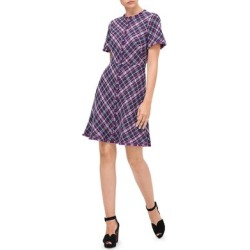 Kate Spade Womens Mini Dress Plaid Textured - Plum Tree found on MODAPINS from Overstock for USD $119.49