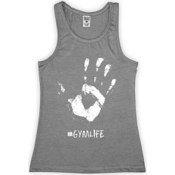 Urban Smalls Girls' Tank Tops Heather - Heather Gray '#Gymlife' Racerback Tank - Toddler & Girls found on Bargain Bro from zulily.com for USD $9.11