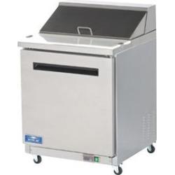 "Arctic Air AMT28R 29"" 1 Door Mega Top Refrigerated Sandwich Prep Table"