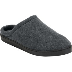 Wide Width Fleece Clog Slippers by KingSize in Charcoal (Size 10 W) found on Bargain Bro Philippines from Brylane Home for $21.99