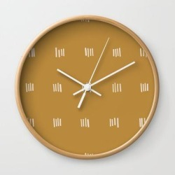 Wall Clock | Desert Checks by Urban Wild Studio Supply - Natural - White - Society6 found on Bargain Bro from Society6 for USD $19.45