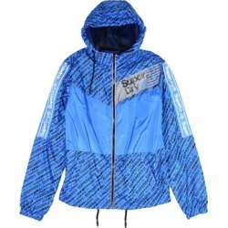 Superdry Mens Jacket Blue Size Small S Ollie Core Cagoule Windbreaker (S), Men's(polyester) found on Bargain Bro from Overstock for USD $56.22