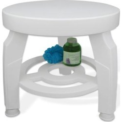 Swivel Shower Stool by IDEAWORKS® in White found on Bargain Bro Philippines from Brylane Home for $54.99