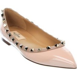 Valentino Rockstud Patent Flat found on Bargain Bro from Overstock for USD $538.64