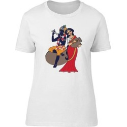 Lord Krishna Tee Women's -Image by Shutterstock (S), White(cotton, Graphic) found on MODAPINS from Overstock for USD $13.99
