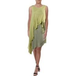 Halston Heritage Women's Silk Asymmetrical Sleeveless Colorblock Cocktail Dress - Capis (M) found on MODAPINS from Overstock for USD $53.84