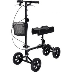 Costway Steerable Foldable Turning Brake Knee Walker Scooter found on Bargain Bro India from Costway for $124.95