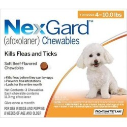 Nexgard For Small Dogs 4-10lbs (Orange) 11mg 3 Chews found on Bargain Bro Philippines from Canadapetcare.com for $31.61