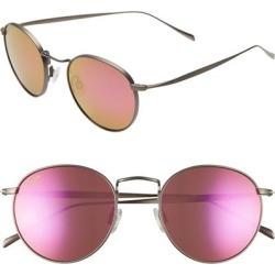 Nautilus 50mm Polarizedplus2 Round Sunglasses - Slate Grey/ Maui Sunrise - Gray - Maui Jim Sunglasses found on Bargain Bro Philippines from lyst.com for $330.00