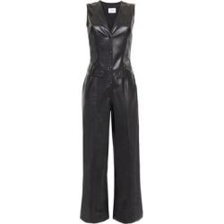 Freya Vegan Leather Jumpsuit - Black - Nanushka Jumpsuits found on MODAPINS from lyst.com for USD $297.00