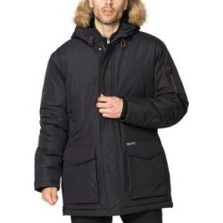 Hawke & Co. Mens Parka Coat Faux Fur Cold Weather - Black - L (Black - L), Men's found on MODAPINS from Overstock for USD $57.65