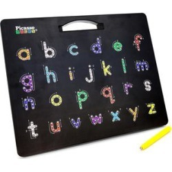 PicassoTiles Wireless Headphones - Black Magnetic Alphabet Drawing Board found on Bargain Bro Philippines from zulily.com for $11.99