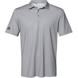 Adidas Men's Diamond Dot Sport Shirt Assorted Colors (Large - Grey Three/Team), Gray(polyester) found on Bargain Bro from Overstock for USD $47.11