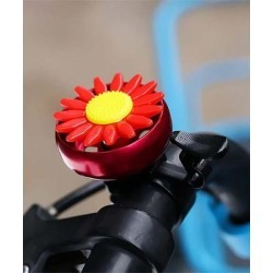 Tech Zebra Bike Accessories Red - Red Flower Bicycle Bell found on Bargain Bro from zulily.com for USD $7.59