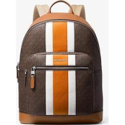 Michael Kors Hudson Logo Stripe Backpack Brown One Size found on Bargain Bro Philippines from Michael Kors for $411.00