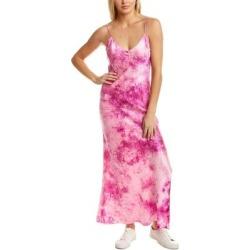 Dannijo Tie-Dye Silk Maxi Slip Dress (XS), Women's, Pink found on MODAPINS from Overstock for USD $219.99