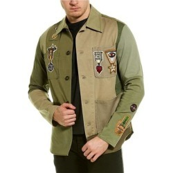 Valentino Denim Jacket (48), Men's, Green found on Bargain Bro Philippines from Overstock for $879.99