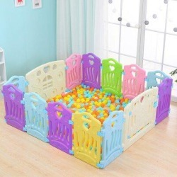 Dayyet Baby Play Fence Children Activity Center Safety GatePlastic in Green, Size 24.0 H x 63.0 W x 63.0 D in   Wayfair C0260 found on Bargain Bro Philippines from Wayfair for $149.99
