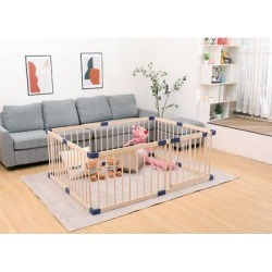 Bonrcea Wood Baby Safty Extension KitWood in Brown, Size 24.0 H x 71.0 W x 63.0 D in   Wayfair BABYPLAYPEN002 found on Bargain Bro Philippines from Wayfair for $196.04