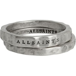 Set Of 2 Burnished Rings - Metallic - AllSaints Rings found on Bargain Bro from lyst.com for USD $69.92