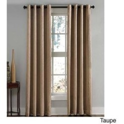 Lenox Crushed Textured Room Darkening Grommet Panel (50 x 20 - Taupe), Brown(Polyester, Solid) found on Bargain Bro Philippines from Overstock for $49.99