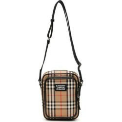 Check Medium Freddie Messenger Bag - Black - Burberry Messenger found on Bargain Bro India from lyst.com for $627.00