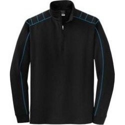 Nike Dri-FIT 1/2 Zip Warm Up Golf Jacket (Black / Blue - L), Men's(polyester, Solid) found on Bargain Bro from Overstock for USD $58.51
