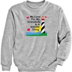 Women's Grandkids Graphic Sweatshirt, Heather Gray/Grandkids S Misses found on Bargain Bro Philippines from Blair.com for $24.99