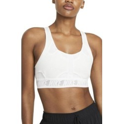 Dri-fit Swoosh Ultrabreathe Sports Bra - White - Nike Lingerie found on Bargain Bro from lyst.com for USD $53.20