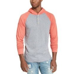 American Rag Mens Hoodie Orange Colorblock Pullover found on Bargain Bro from Overstock for USD $6.15