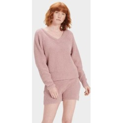 Paula V Neck Sweater Polyester - Pink - Ugg Knitwear found on Bargain Bro India from lyst.com for $88.00