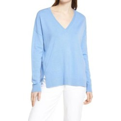 Everyday V-neck Sweater - Blue - Nordstrom Knitwear found on Bargain Bro from lyst.com for USD $52.44
