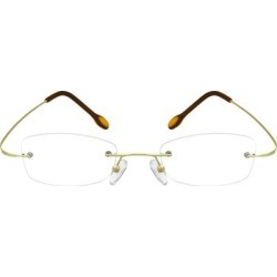 Zenni Women's Lightweight Rimless Prescription Glasses Gold Stainless Steel Frame found on Bargain Bro from Zenni Optical for USD $19.72